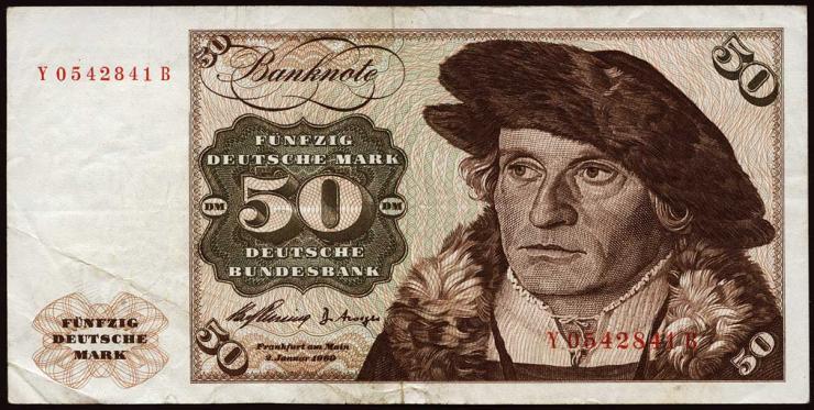 R.265d 50 DM 1960 Y/B Ersatznote (3)