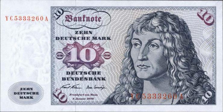 R.270c 10 DM 1970 YC Ersatznote (1)