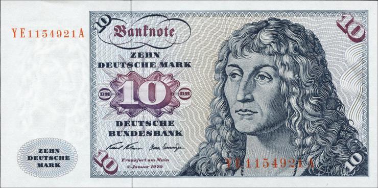 R.270d 10 DM 1970 YE Ersatznote(1)