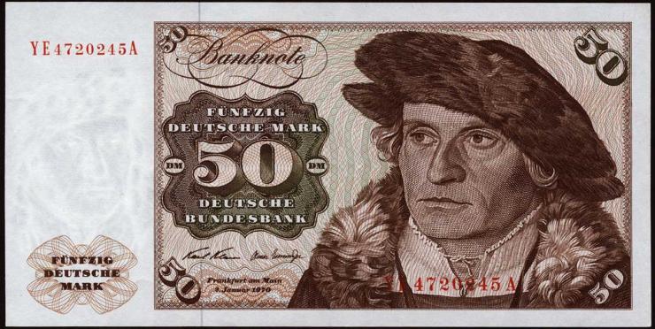 R.272d 50 DM 1970 YE/A Ersatznote (2)