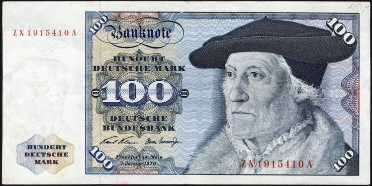 R.273c 100 DM 1970 ZN Ersatznote (3)