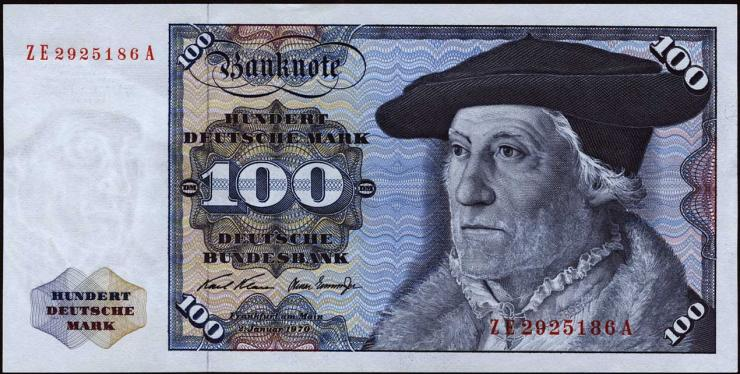R.273d 100 DM 1970 ZE/A Ersatznote (1)