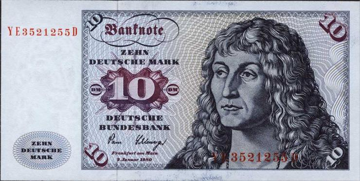R.286b 10 DM 1980 YE/D Ersatznote (1)