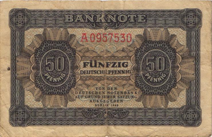 R.339d: 50 Pfennig 1948 7-stellig Serie A (3-)