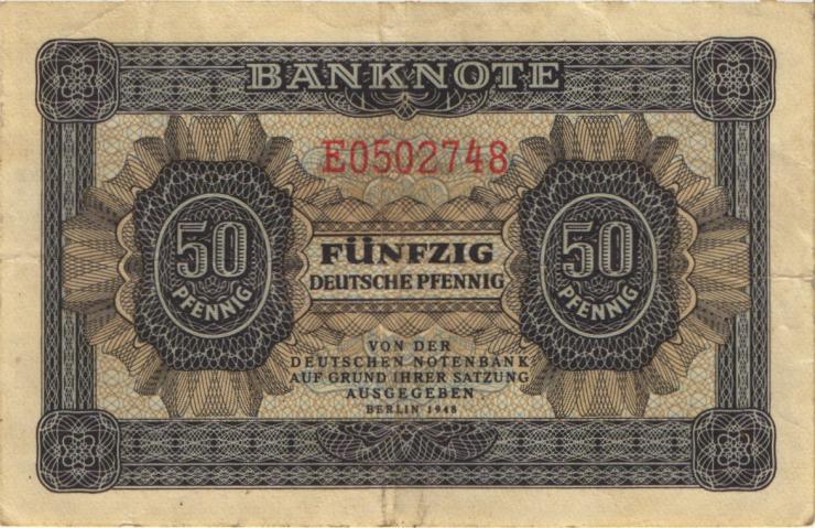 R.339d: 50 Pfennig 1948 7-stellig Serie E (3)