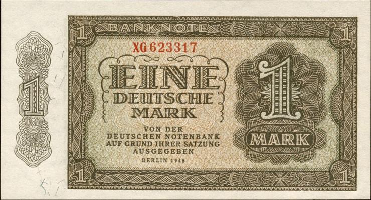 R.340c 1 DM 1948 Ersatznote 6-stellig Serie XG (1)