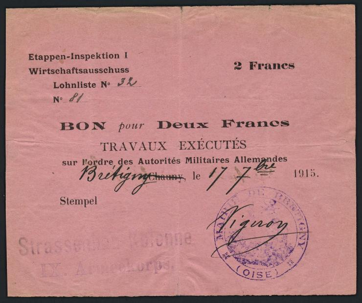 R.404e 5 Francs 1915 (3+)