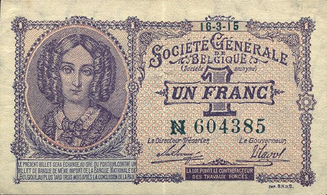 R.433a: Besetzung Belgien 1 Franc 1915 (2)