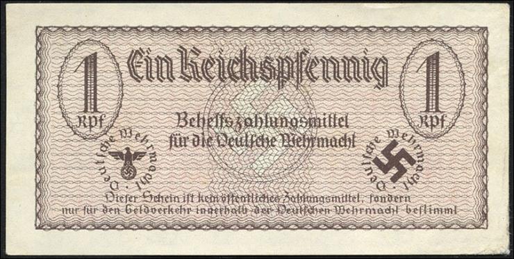 R.500: Wehrmachtsausgabe 1 Reichspfennig braun (1/1-)