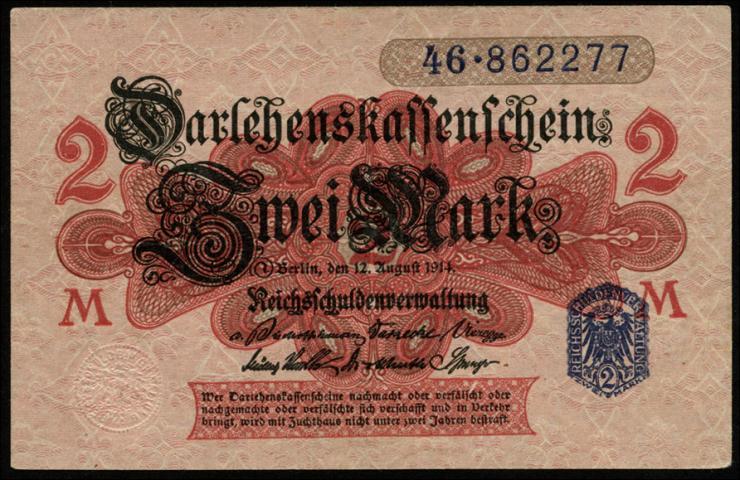 R.052F: 2 Mark 1914 Fehldruck (1)
