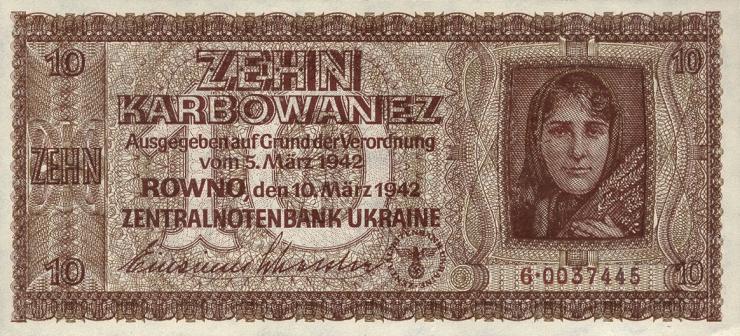 R.594: Besetzung Ukraine 10 Karbowanez 1942 (1)