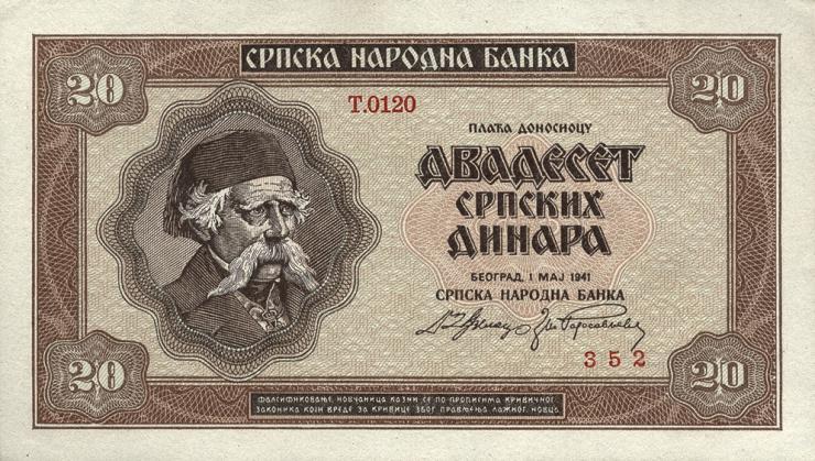 R.603: Serbien 20 Dinara 1941 (1)
