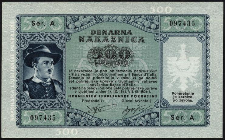 R.614: Laibach 500 Lire 1944 (1)