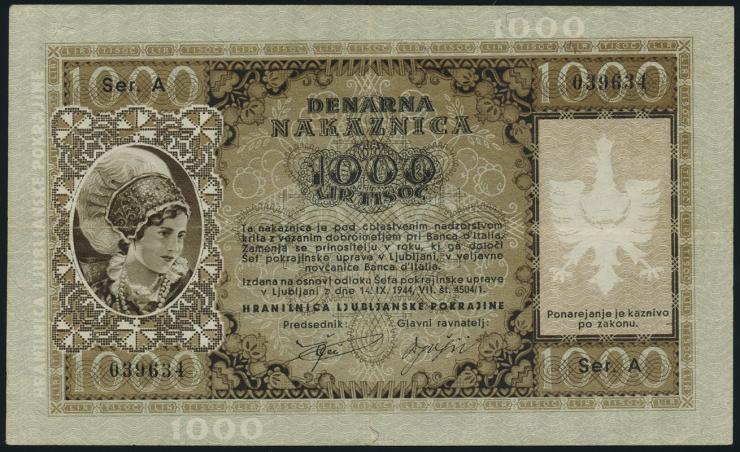 R.615: Laibach 1000 Lire 1944 (2)