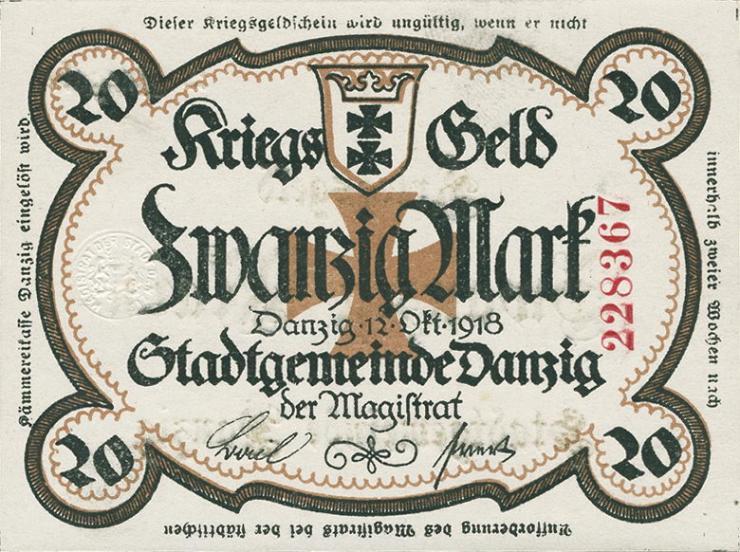 R.787a: Danzig 20 Mark 1918 (1)
