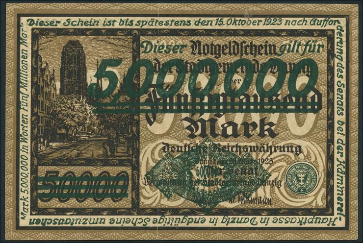 R.803: Danzig 5 Million Mark 1923 (2)