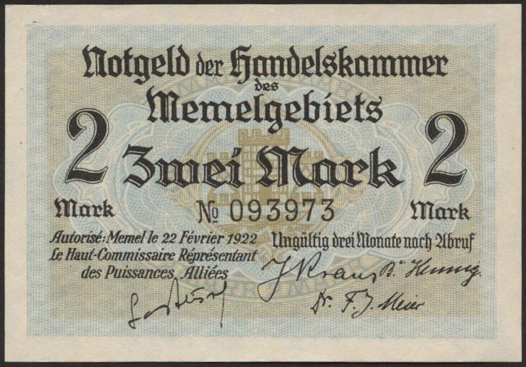 R.848b: Memelgebiet 2 Mark 1922 (1)