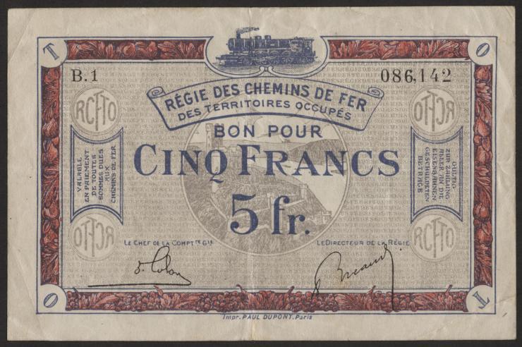 R.860a: Rheinland 5 Francs (1923) (3)