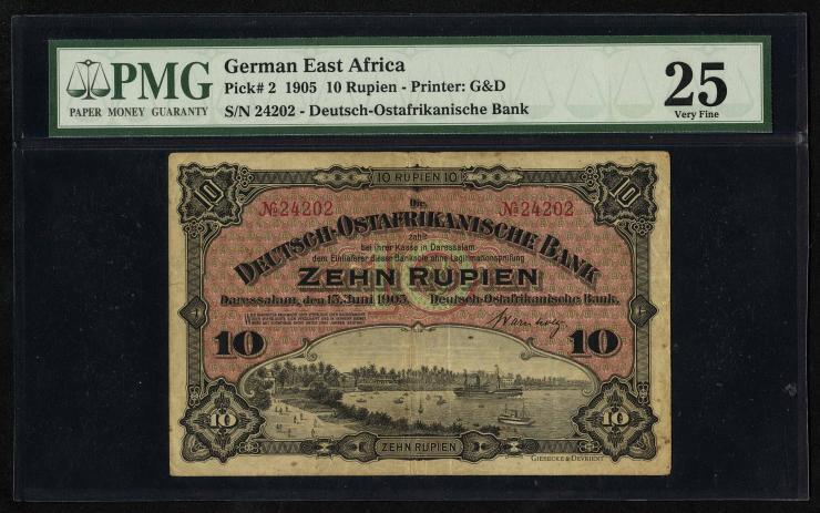 R.901 Deutsch-Ostafrika 10 Rupien 1905 (3)