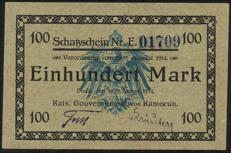 R.964b: Kamerun 100 Mark 1914 (1)