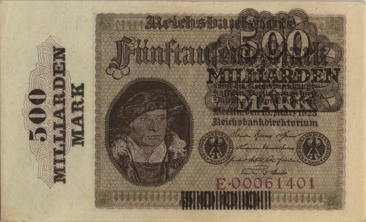 R.121a: 500 Milliarden Mark 1923 (2+)
