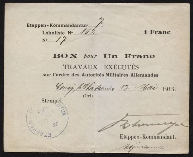 R.406b 1 Franc 1915 (3+)