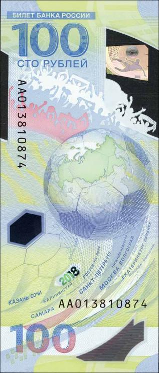 Russland / Russia P.neu 100 Rubel 2018 Polymer Serie AA (1)
