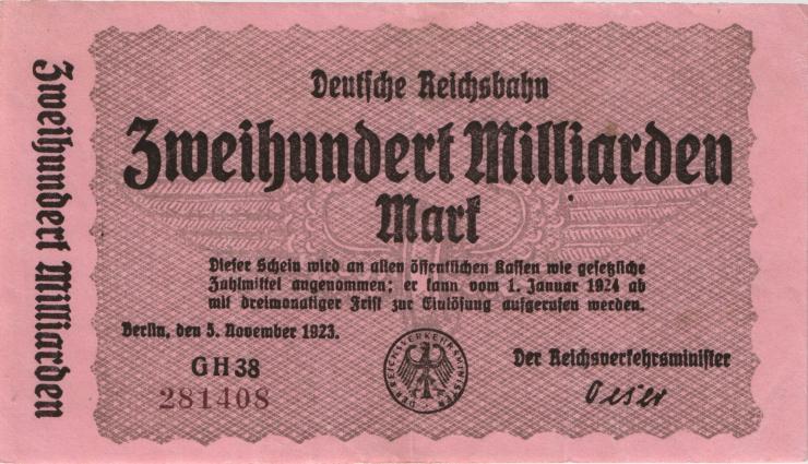 RVM-20 Reichsbahn Berlin 200 Milliarden Mark 1924 (3)
