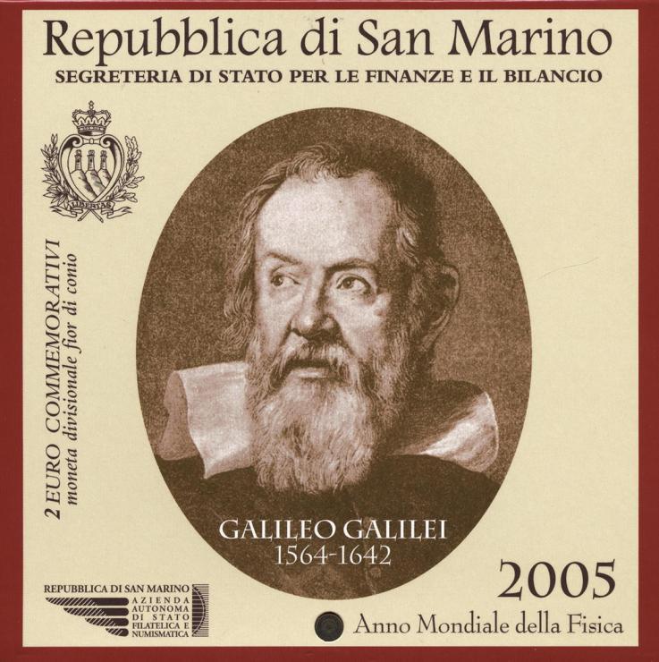 San Marino 2 Euro 2005 Galileo Galilei