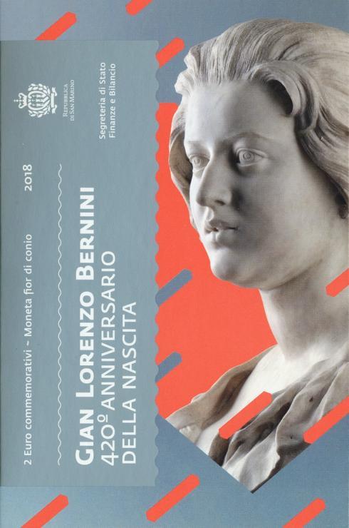 San Marino 2 Euro 2018 420. Geburtstag Bernini