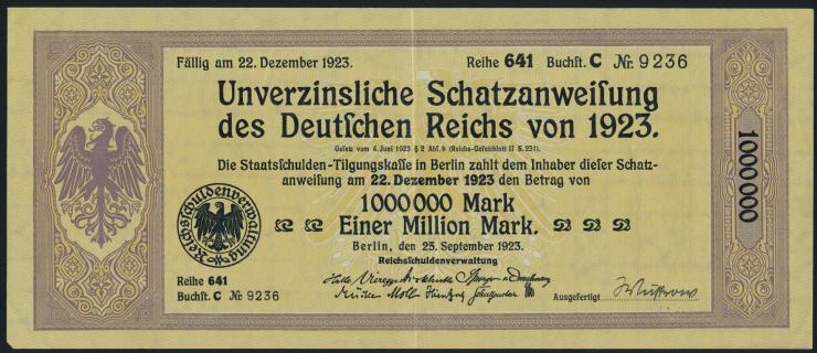 1.000.000 Mark Schatzanweisung 1923 (2)