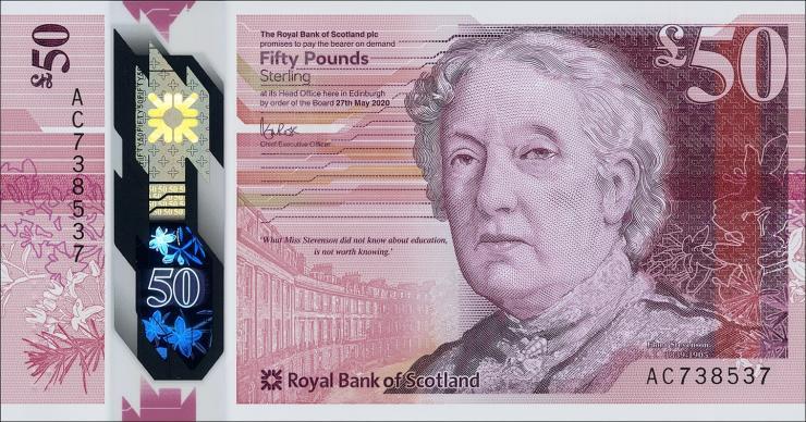 Schottland / Scotland 50 Pounds 2020 Polymer (1)