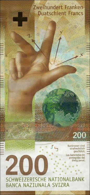 Schweiz / Switzerland P.79 200 Franken (20)16 (1)