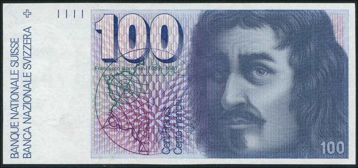 Schweiz / Switzerland P.57b 100 Franken 1977 (1/1-)