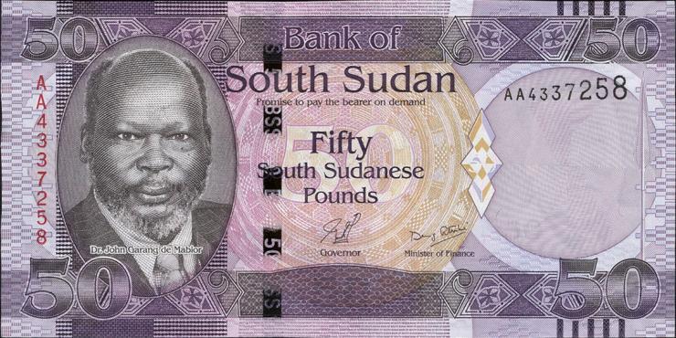 Süd Sudan / South Sudan P.09 50 Pounds 2011