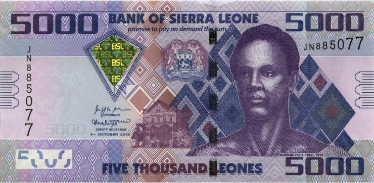 Sierra Leone P.32d 5.000 Leones 2018 (1)