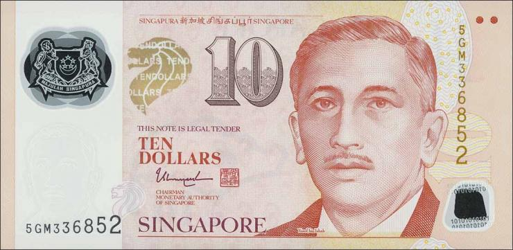 Singapur / Singapore P.neu 10 Dollars (2017) Polymer (1)