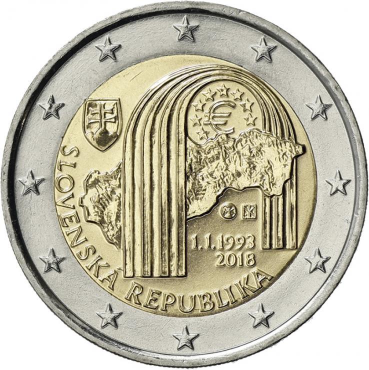Slowakei 2 Euro 2018 25 Jahre Republik