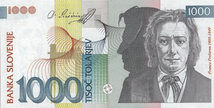 Slowenien / Slovenia P.18 1000 Tolarjew 1993 (1)