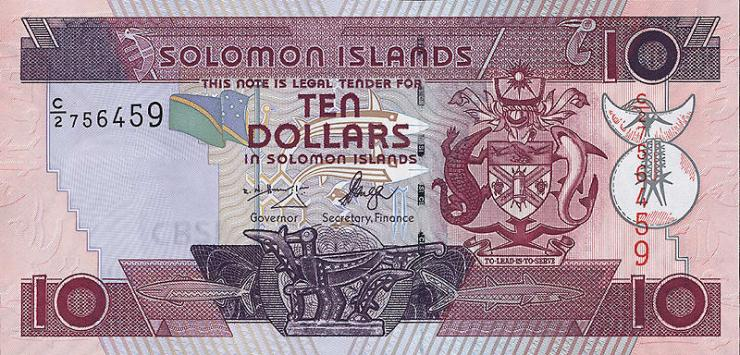 Solomon Inseln / Solomon Islands P.27 10 Dollars (2004) (1)