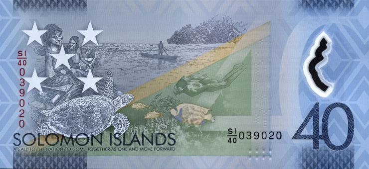 Solomon Inseln / Solomon Islands P.neu 40 Dollars (2018) Polymer (1)