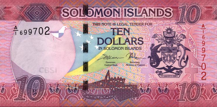 Solomon Inseln / Solomon Islands P.33 10 Dollars (2017) (1)
