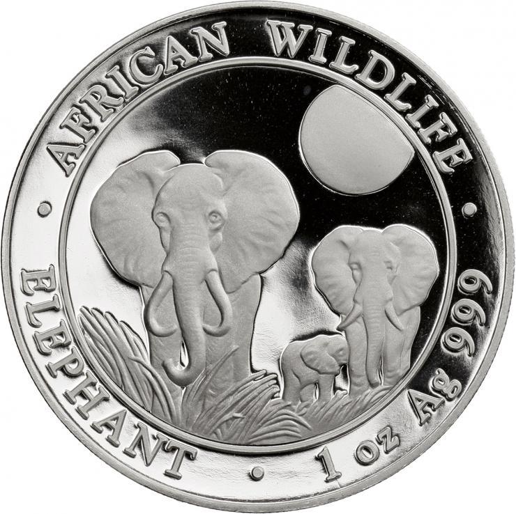 Somali Rep. Silber-Unze 2018 Elefanten