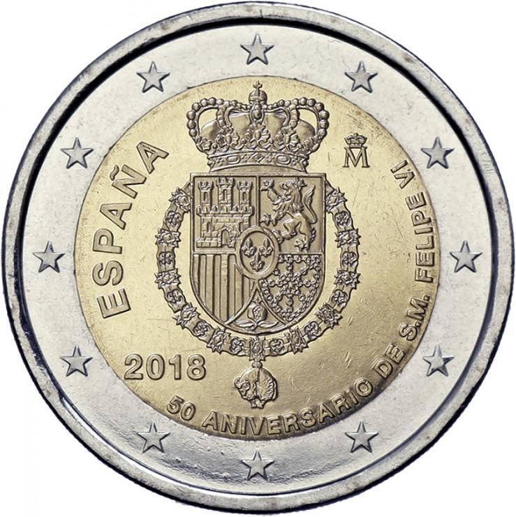 Spanien 2 Euro 2018 50. Geburtstag von König Felipe VI.
