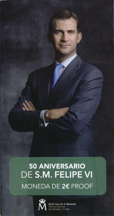Spanien 2 Euro 2018 50. Geburtstag von König Felipe VI. im Folder