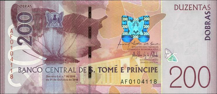 St. Thomas / Saint Thomas and Prince P.75 200 Dobras 2016 (1)