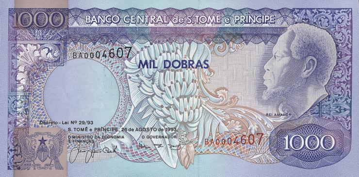 St. Thomas / Saint Thomas and Prince P.64 1000 Dobras 1993 (1)
