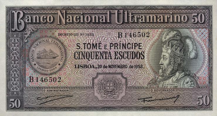 St. Thomas / Saint Thomas and Prince P.37a 50 Escudos 1958 (1)