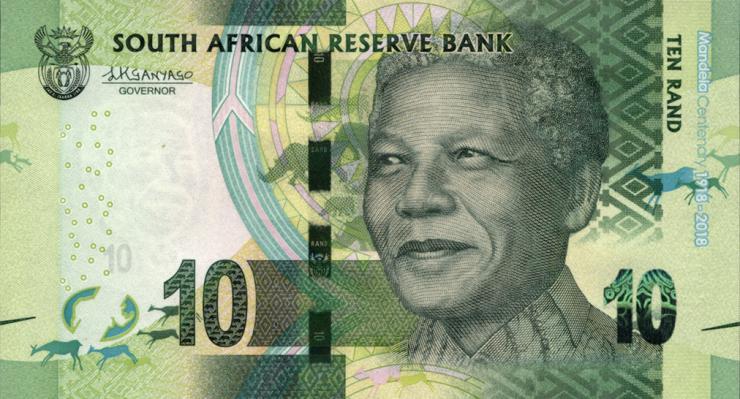 Südafrika / South Africa P.neu 10 Rand 2018 Gedenkbanknote (1)