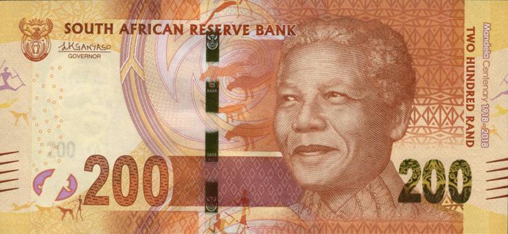 Südafrika / South Africa P.neu 200 Rand 2018 Gedenkbanknote (1)